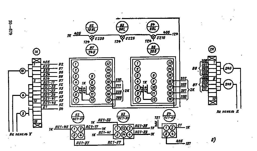 Пример монтажной схемы щита