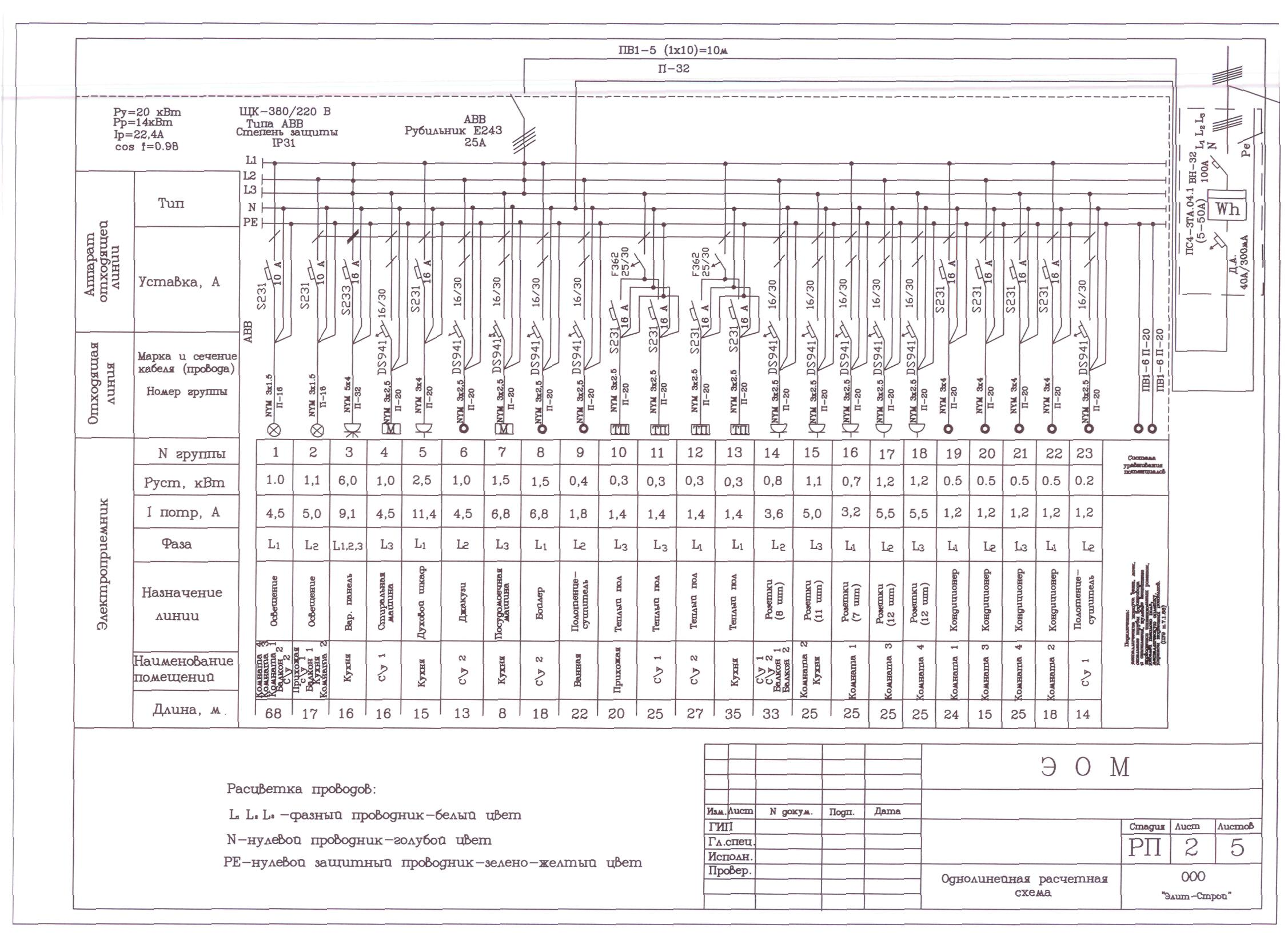 Однолинейная схема 3 фазы фото 752