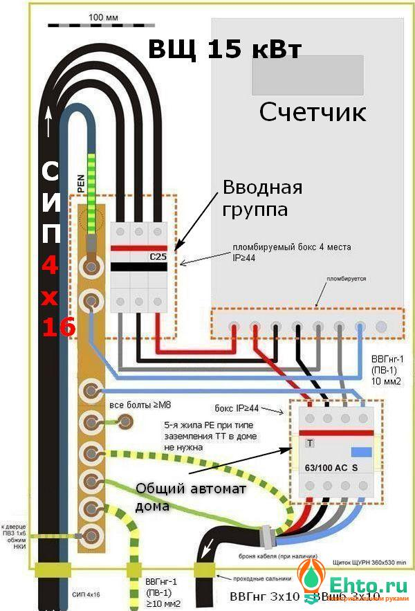 Схема электрощита для частного дома фото 933