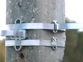 Крепление СИП с помощью анкерного зажима РА1500