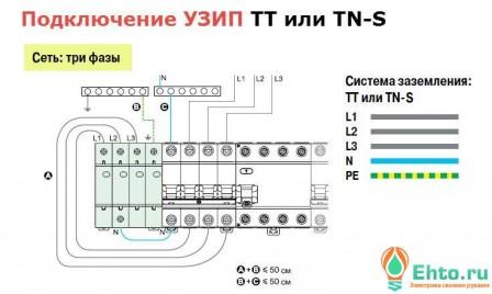 подключение узип 380 tt tn_s-1