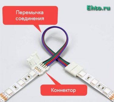 угловое соединение лент подсветки