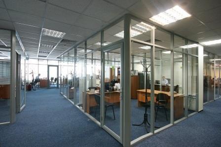 Офисные перегородки прозрачные