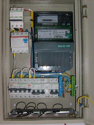 Сборка и монтаж электрических щитов Схема подключения