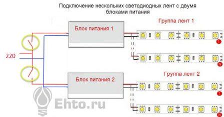 Схема управления освещением светодиодной подсветки