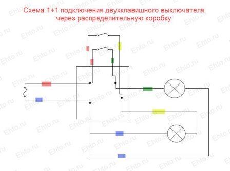 Монтажная схема установки выключателей 2