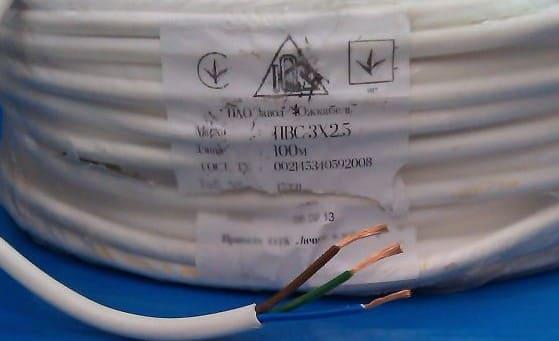 кабель ПВС в бухте