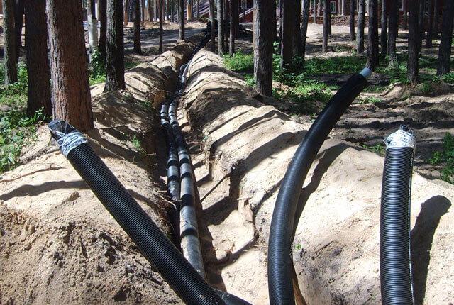прокладка кабеля в грунте