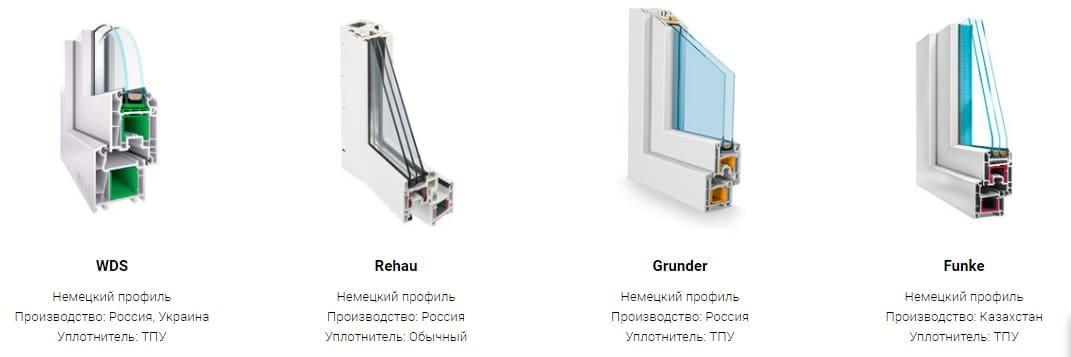 качественные окна ПВХ от разных производителей профилей