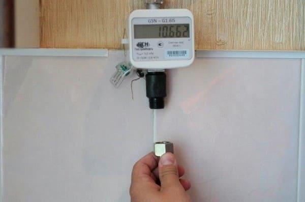 Установка газового счётчика