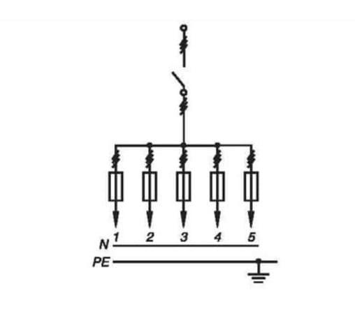 принципиальная электрическая схема электрического шкафа ШР-11