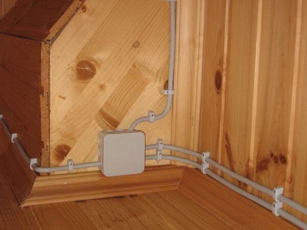 Непосредственная проводка кабелем по стене