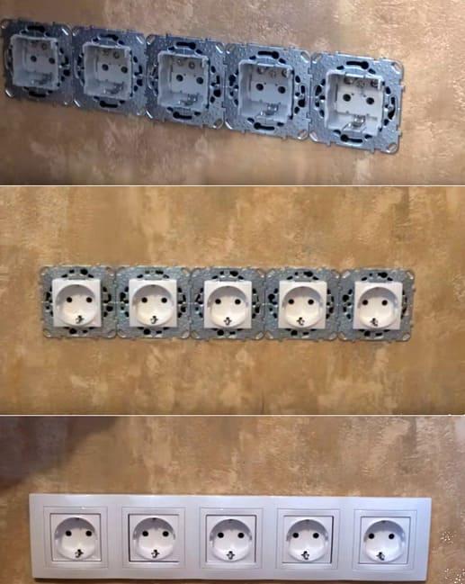 какие розетки нужны в квартире: блочные розетки
