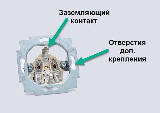 устройство электрических розеток крепления розетки скрытого монтажа в монтажной коробке