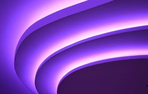 светодиодные ленты на потолке
