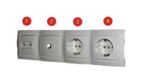 электроустановочные изделия в ряд