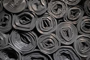 черные мешки для мусора