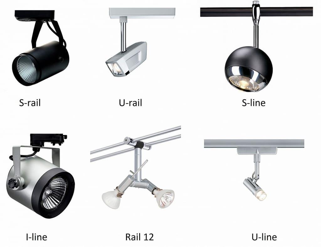 трековые светильники на шинопроводе
