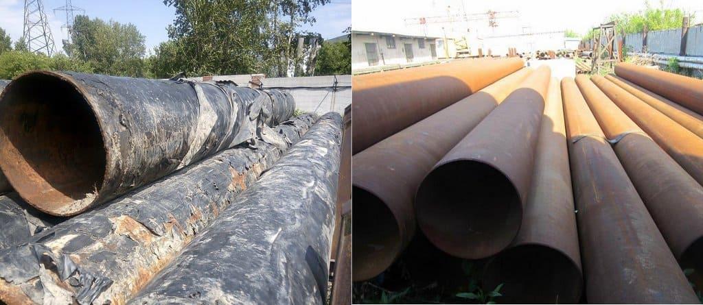 стальные тубы lдо и после восстановления