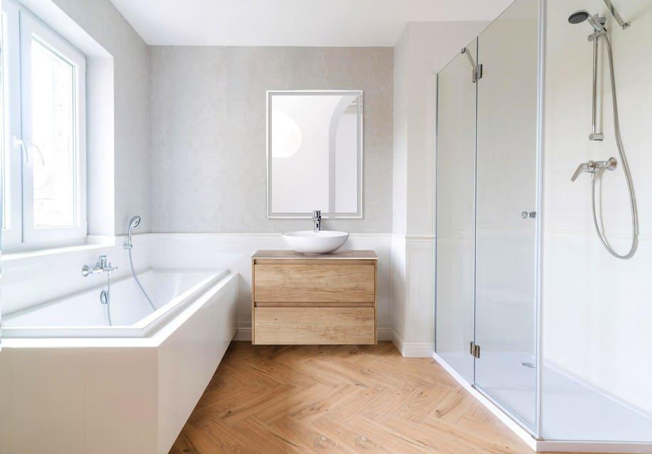 минимальное количество мебели в ванной