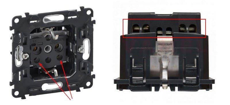 обратить внимание на способ подключения проводов в розетке